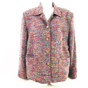 Draper's & Damon's Petite Tweed Jacket Sz PXL